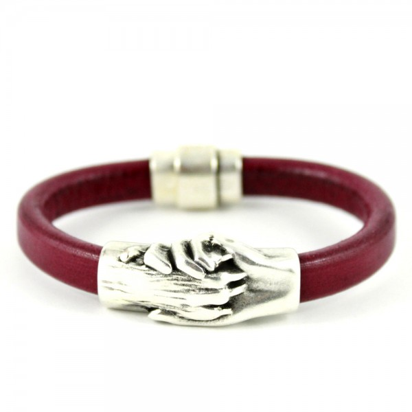 Hand and Paw Bracelet Leather